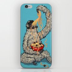 Three Toed Sloth Eating Spaghetti From a Bowl iPhone & iPod Skin