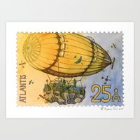 Atlantis Stamp Art Print