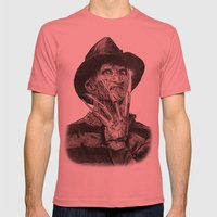 freddy krueger Mens Fitted Tee Pomegranate SMALL