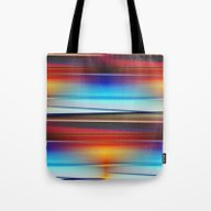 Stripes Colorful And Shi… Tote Bag
