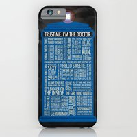 doctor who iPhone & iPod Cases featuring Doctor Who  by Luke Eckstein