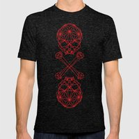 RedSkull Mens Fitted Tee Tri-Black SMALL