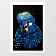 Doctor Who At Arch Of Ti… Art Print