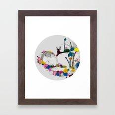 Flower Funeral Framed Art Print