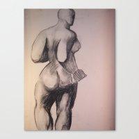 Degas Does Picaso Master Copy Canvas Print