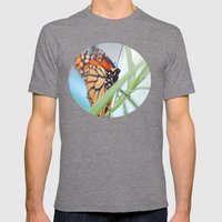 Butterfly Portrait Mens Fitted Tee Tri-Grey SMALL