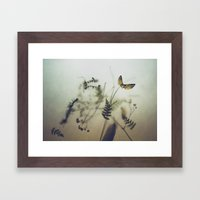 pine wings Framed Art Print
