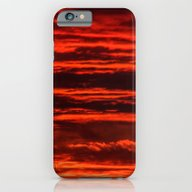 iPhone & iPod Case featuring Fiery Sunset by Svetlana Korneliuk