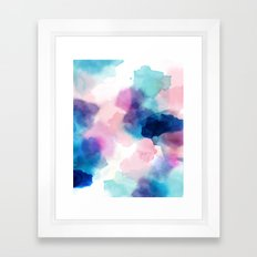 Melody abstract watercolor Framed Art Print