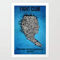 Typography Marla Singer Art Print