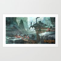SunderFall: Galbourne Ri… Art Print