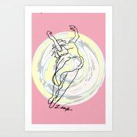 Leap Swirl Art Print