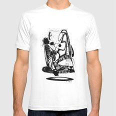 What you hold - Emilie Record SMALL White Mens Fitted Tee