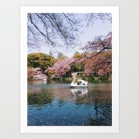 Sakura @ Kichijoji Art Print