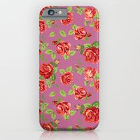 Rose pattern- pink iPhone 6 Slim Case