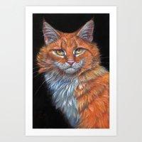 Red Cat P019 Art Print
