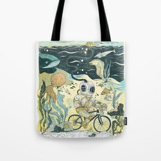 Cycling in the Deep Tote Bag