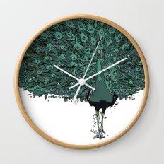 Peacock -blue Wall Clock
