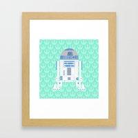 R2-D2 On Mint Rebellion Framed Art Print