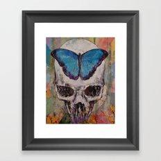 Butterfly Skull Framed Art Print