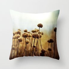 Where the Night Runs Into the Day Throw Pillow