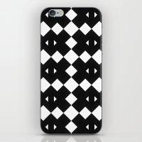 Branting Black & White Pattern iPhone & iPod Skin