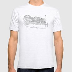 The Jersey Shore by the Downtown Doodler Mens Fitted Tee Ash Grey SMALL