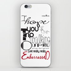 Tripping - Backhanded Insults iPhone & iPod Skin