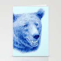Brown bear is blue Stationery Cards