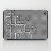 Eat Sleep Pattern Repeat iPad Case