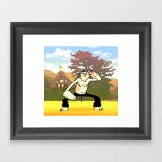 Morning Exercise Framed Art Print