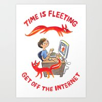 Time Is Fleeting — Get… Art Print