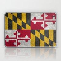 State flag of Flag of Maryland - Vintage retro style Laptop & iPad Skin
