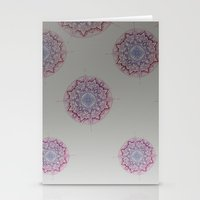 Grey Ombre Mandala Stationery Cards