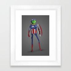 Captain Kermit Framed Art Print