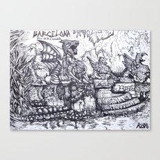 Parc de la Ciutadella Canvas Print