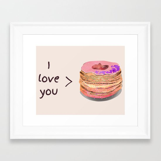 I love you more than cronuts Framed Art Print