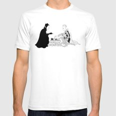 The Seventh Seal White SMALL Mens Fitted Tee