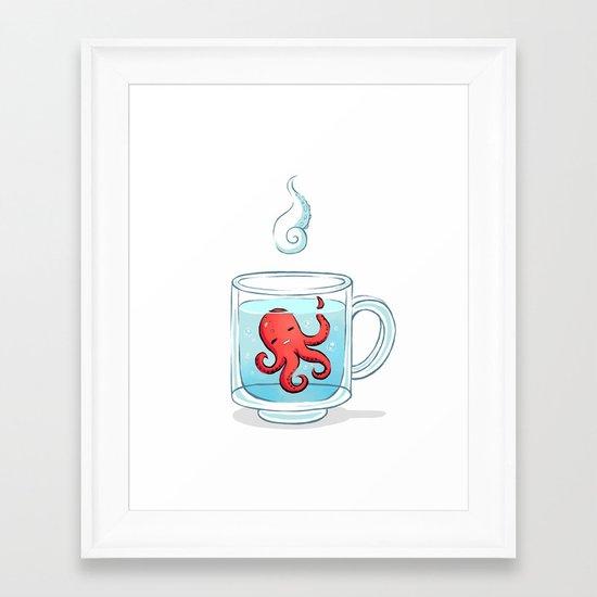 Octopus Tea Framed Art Print