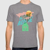 Home Alone Mens Fitted Tee Tri-Grey SMALL