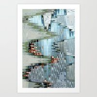 Nude On A Stair Art Print
