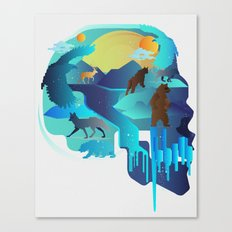 ANIMALS LIFE Canvas Print