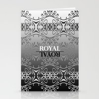 Black and white lace pattern Stationery Cards