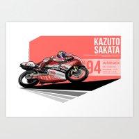 Kazuto Sakata - 1994 Eas… Art Print