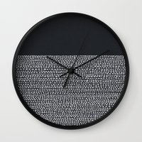 Riverside (Black) Wall Clock