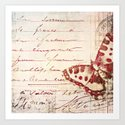 red winged Art Print