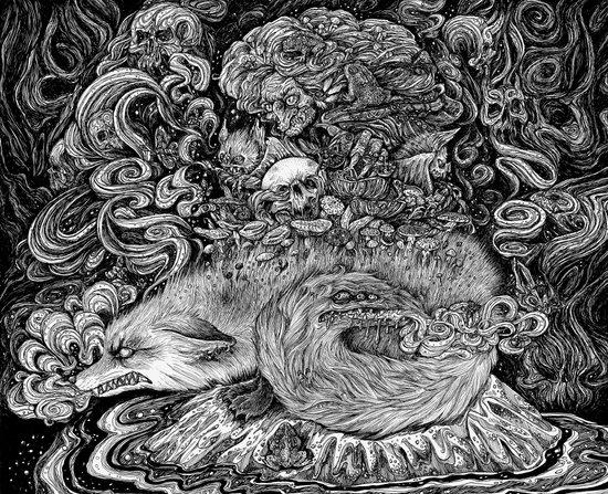 Swamp witch Art Print