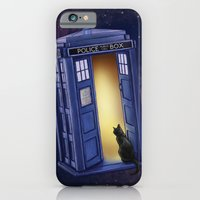 iPhone Cases featuring Paws Through Time and Space by Jenny Parks