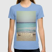 Summer Womens Fitted Tee Tri-Blue SMALL