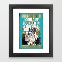 Hamlet Quote Framed Art Print